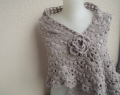 light beige crochet shawl wrap shawl fall fashion crochet shawl sale