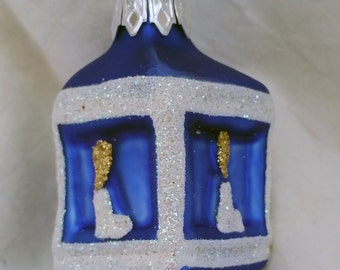 Glass Dreidel Ornament