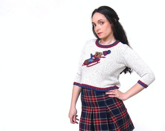 Sleading Bear Cropped Sweater