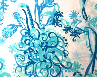 Lilly Pulitzer fabric Back It Up  9 X 18 or 18 X 18 inches