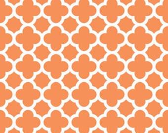 Riley Blake Fabric - 1/2 Metre Quatrefoil in Orange