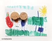 Fridge magnets - ANY 2 wooden magnets - Kids fridge magnets