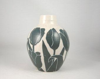 Vintage Kark Pottery Ceramic Vase California Art Studio