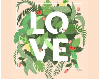 Floral Love Archival Print
