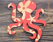 Octopus Christmas Ornament in Maple