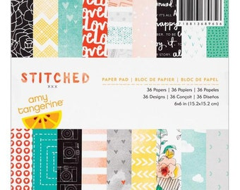 Stitched Paper Pad by Amy Tangerine  6x6