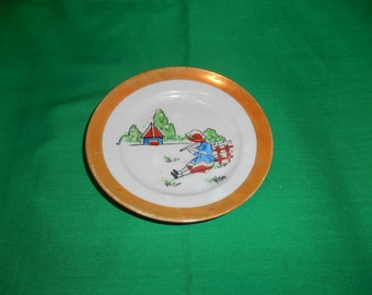 Two (2), Children's Plates, from Post War Japan.