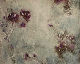 Rustic Botanical encaustic painting (2.1)