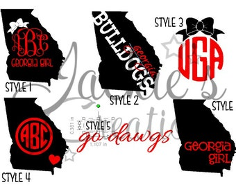 GA Decals/Monogram Georgia Decals