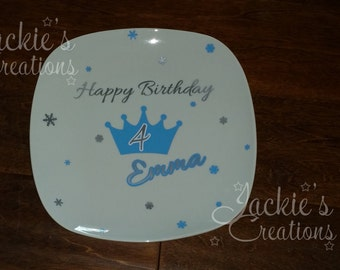 Personalized Birthday Guest Signing Plate