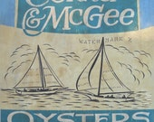 Chincoteague Virginia Oyster Print