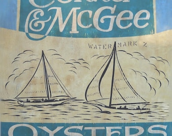Chincoteague Virginia Oyster Print