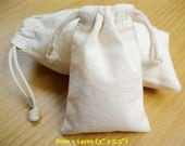"20 pcs 3""x5.5"" Plain Drawstring Muslin Bags Fabric Jewelry Gift Shipping Package Baby Shower Favor Pouches"