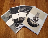 4 Magical Greetings Cards. Variety Multipack from Artist's Original Illustrations Alternative Christmas