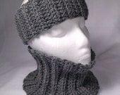 ALPACA Crocheted Headband Earmuff Ear Warmer, Gaiter or Complete Set, Adult, Teen Sized Ski Gator