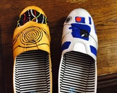 Star Wars C3PO and R2D2 flats. (Made to order).