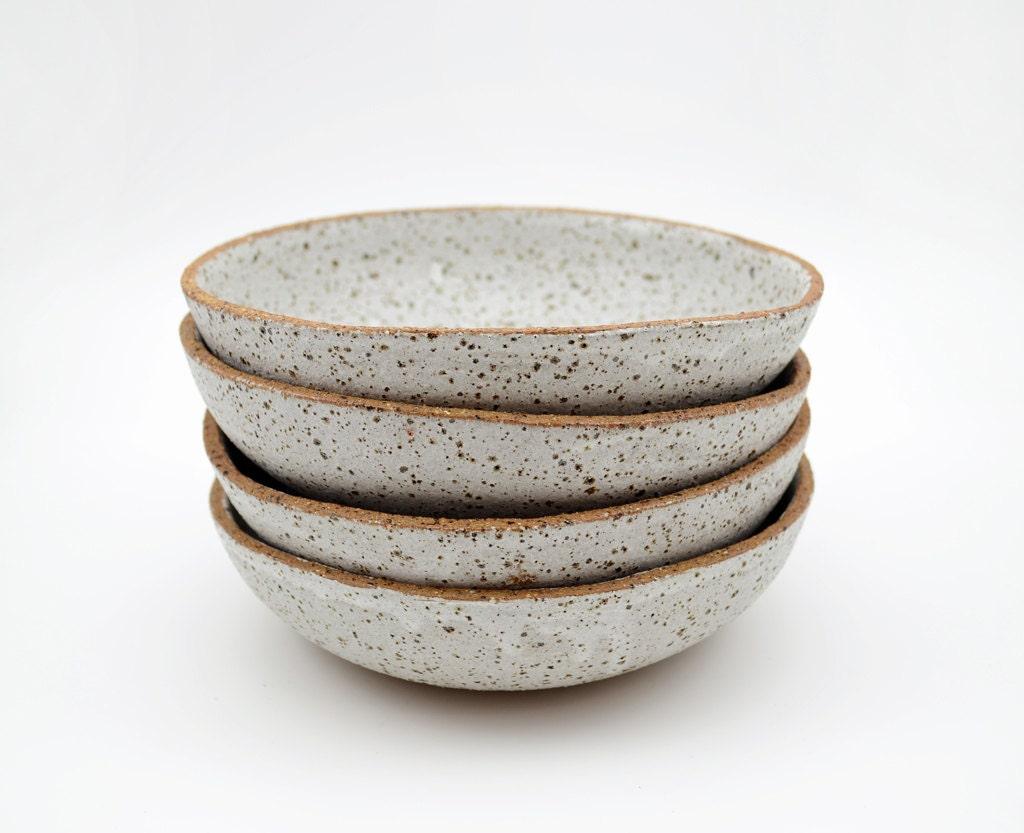 Set Of 4 Rustic Bowls Ceramic Bowls Serving Bowls