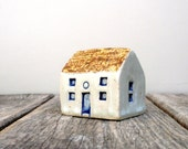 RESERVED Prairie House ,Ceramic Sculpture Miniature House, Cottage