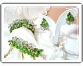 Juliana Clamper Set Luscious Lime Dancing Crystals Vintage D&E  Parure  Para-969a-031011105