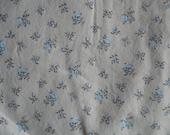 Tan Fabric Yardage, Dainty Blue and Lavender flowers, Wamsutta OTC