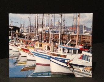 San Francisco Boats Folded Note kard