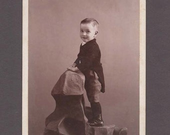 Cabinet Card of a Little Boy in a Tail Coat