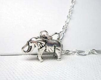 Elephant Necklace  Jewelry Good luck Charm Romantic Lucky  Pendant  Vintage style