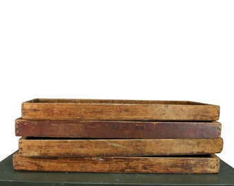 Vintage Industrial Wood Box--Wood Storage Tray