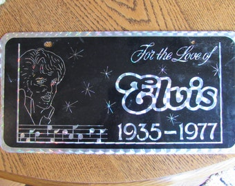 Vintage 1977 Elvis Collectible License Plate