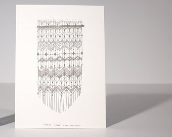Sunrise Sunsets, letterpress, art, print, macrame, geometric, pattern