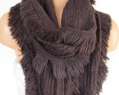 Knitted Long Scarf ,Brown Scarf, Neck Warmer, Winter Accessories, Fall Fashion, Holiday Accossories,Gift For Valentines