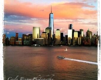 NYC - Skyline at Sunset Tile Coaster