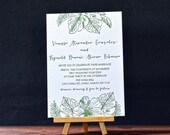 Aloha Letterpress Wedding Invitations - DEPOSIT
