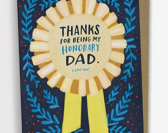 Honorary Dad Father's Day Card, Stepdad Card, Godfather Card, Uncle Card / No. 241-C