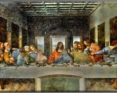 Jesus Christ last Supper canvas art print 28x66 inches