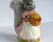Goody Tiptoes Beatrix Potter Figurine / Beswick England / 1970 Vintage