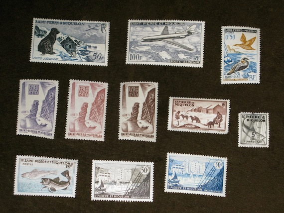 St. Pierre & Miquelon Stamps 1937-1957 Timbre Tax Airpost
