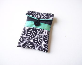 phone case,iphone sleeve black and white leaves