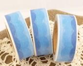 Blue Ocean Waves Wavy Washi Tape - CC582