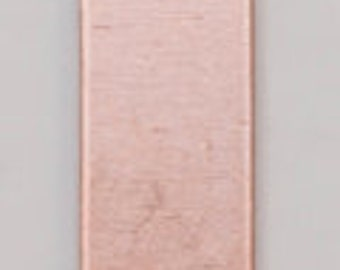 """Copper Blanks Rectangle With Ring 11/16"""" x 3/16"""" 24ga Pkg Of 6"""