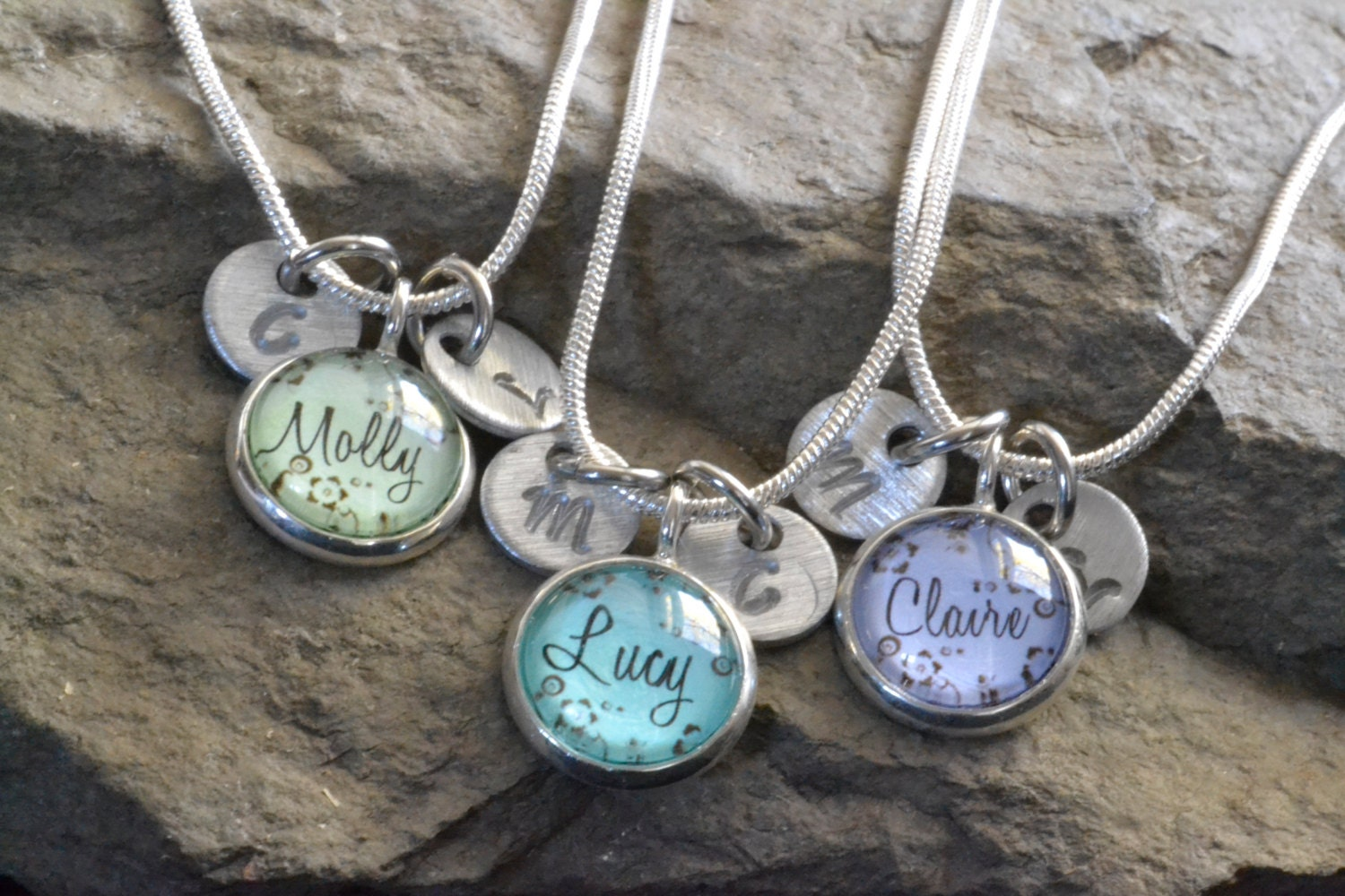 3 best friend necklaces 3 friendship necklace personalized