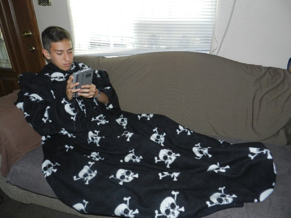 Zebra Print Snuggie Black Print Fleece Snuggie