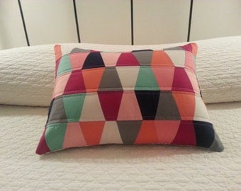 Tumbler Patchwork Quilted Pillow