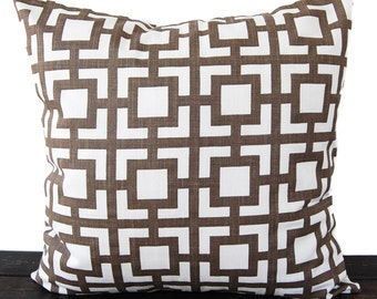 Throw pillow cover italian brown and white pillow case Gigi cushion cover
