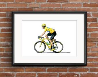 Bradley Wiggins - Tour de France Winner - POSTER PRINT A1 size