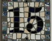 Special order 2 digit square mosaic larger house number