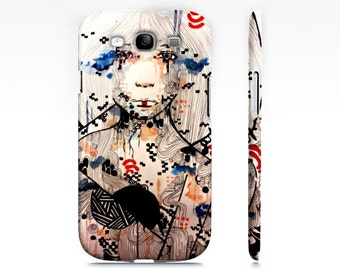 Cell Phone case - Samsung Galaxy case - Phone case - Cell Phone Cover - Watercolor art girl - Phone accessory - Art phone case
