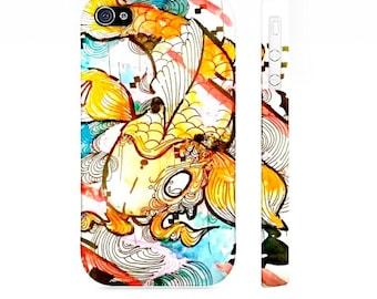 IPhone 4 case - iPhone 4 cover - Koi Fish Phone case - Cell Phone Case - Device case - iPhone case - iPhone cover