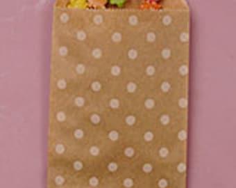 25 Kraft Polka Dot Bags/Party Favor Bags/Favor Bags/Loot Bags/Bags/Birthday Bags/Bags/Kraft Bag/Paper Bag