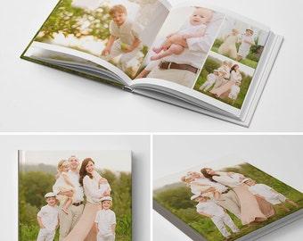 12x12 Photo Book Template, Baby Book Template, Wedding Book Template, Photography Templates - The Interchangeable Book Album
